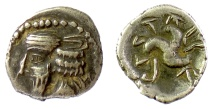 Ancient Coins - PERSIS, PAKOR I. AR hemidrachm, early 1st century AD