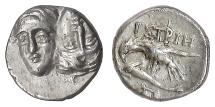 Ancient Coins - MOESIA, Istros. AR Quarter Drachm, 4th century BC