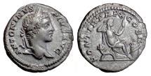 Ancient Coins - CARACALLA. AR denarius, Rome. Struck 207 AD. Securitas