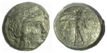 Ancient Coins - ARGOLIS, Argos. AE dichalkon, circa 280-260 BC. Hera / Palladion