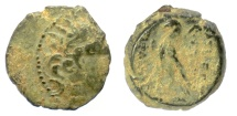Ancient Coins - SELEUKID KINGS, Antiochos VIII Epiphanes. AE denomination B, Antioch mint, 121-110 BCE