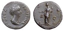 Ancient Coins - Diva Faustina Senior. AE dupondius. Rome mint, 146-161 AD. Juno