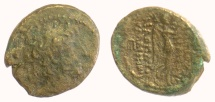 Ancient Coins - SELEUKID KINGS of SYRIA, Antiochus XII. AE denomination C, Damaskos mint. Struck 85-83 BC