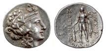 Ancient Coins - THRACE, Thasos. AR Tetradrachm, circa 148-80 BC. Dionysos / Herakles