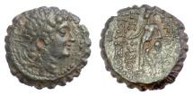 Ancient Coins - SELEUKID KINGS, Antiochos VI Dionysos. AE serrate.  Ptolemais(?) mint. 144-142 BC