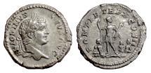 Ancient Coins - CARACALLA. AR denarius,  Rome mint, struck 207 AD
