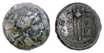 Ancient Coins - SELEUKID, Antiochos I. AE Denom B, Antioch on the Orontes mint, 281-261 BCE. Apollo / Tripod. Scarce
