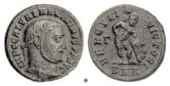 Ancient Coins - MAXIMINUS II. AE follis, Nicomedia mint. Struck circa 311 AD. Hercules
