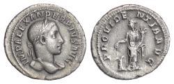 Ancient Coins - SEVERUS ALEXANDER. AR Denarius, Rome, struck 231-235 AD. Providentia