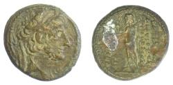 Ancient Coins - SELEUKID KINGS of SYRIA, Antiochus XII. AE denomination B, Damaskos mint. Struck 85-83 BC