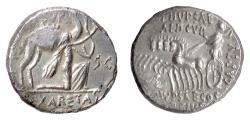 Ancient Coins - Roman Republic, Aemilius Scaurus and Plautius Hypsaeus. AR denarius, Rome, 58 BC