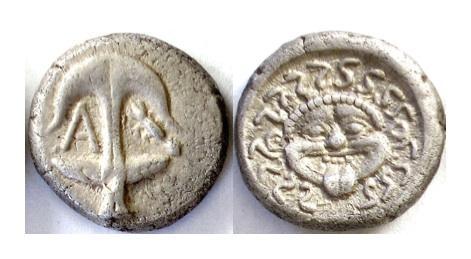 Ancient Coins - THRACE. Apollonia Pontika. AR Drachm. Mid-late 4th century BC