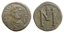 BYZANTINE, Anastasius I. AE 40 follis, Constantinople, struck 498-518 AD