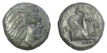 Ancient Coins - CIMMERIAN BOSPOROS, Pantikapaion. AE 17, circa 310-303 BC