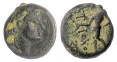 Ancient Coins - SELEUKID, Antiochos III 'the Great'. AE Denom D, Antioch, 222-187 BCE. Apollo
