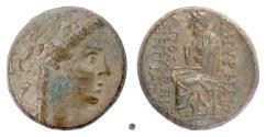 Ancient Coins - Ionia, Smyrna. AE 20, circa 105-95 BC. Apollo / Homer
