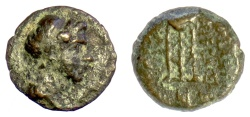 Ancient Coins - SELEUKID KINGS, Demetrios I Soter (?). AE denomination D, 162-150 BC