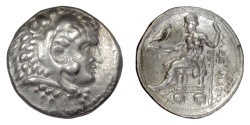 Ancient Coins - Alexander III 'the Great'. AR tetradrachm, Tyre or Ake mint, 315-311 BC