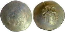 Ancient Coins - BYZANTINE, Manuel I Comnenus. BI Aspron Trachy, Constantinople, c. 1167-1180. Christ facing