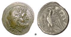 Ancient Coins - BRUTTIUM, Brettian League. AE sextans 215-202 BC. Zeus / Eagle