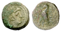 Ancient Coins - SELEUKID KINGS, Antiochos VIII. AE denom B, Antioch mint. Eagle on thunderbolt