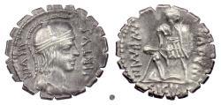 Ancient Coins - Roman Republic. M. Aquillius M.f., AR Denarius, Rome mint, 65 BC