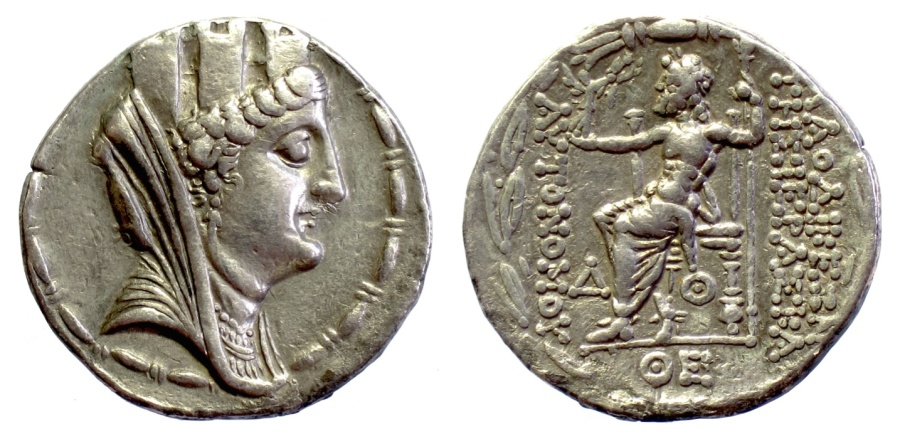 Ancient Coins - SYRIA, Seleukis and Pieria, Laodicea ad Mare. AR Tetradrachm. Dated CY 4 (78/77 BC). Tyche / Zeus
