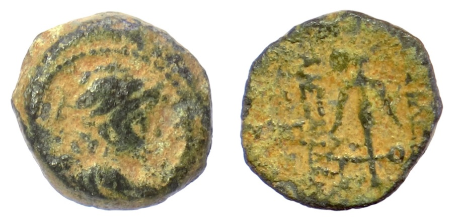 Ancient Coins - SELEUKID KINGS, Alexander II Zabinas. AE denomination C, Antioch mint, 128-122 BC