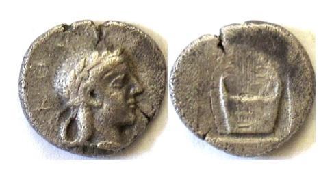 Ancient Coins - IONIA, Kolophon. AR Trihemiobol, circa 450-410 BC