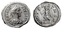Ancient Coins - CARACALLA. AR denarius, Rome mint. Struck 202 AD