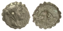 Ancient Coins - SELEUKID KINGS, Seleukos IV. AE serrate denomination C, Antioch on the Orontes 187-175 BCE