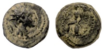 Ancient Coins - SELEUKID KINGS, Antiochos IV. AE denomination C, (Europus mint?). Apollo. Rare