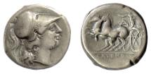 Ancient Coins - CAMPANIA, Cales. AR Nomos, circa 265-240 BC