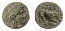 MYSIA, Plakia. AE 12, 4th century BC. Head of Kybele / Lion