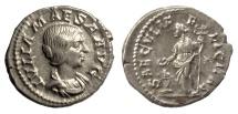 Ancient Coins - Julia Maesa. AR Denarius. Rome mint. Struck under Elagabalus, AD 220-222. Felicitas