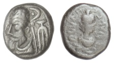 Ancient Coins - ELYMAIS, Orodes III. AE drachm, 2nd century AD.  Bust of Artemis