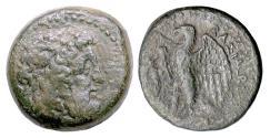 Ancient Coins - Egypt, PTOLEMY II. AE diobol, 285-246 BC. Zeus / Eagle