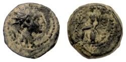 Ancient Coins - SELEUKID KINGS, Antiochos IV. AE denomination C, (Europus mint?). Apollo. Rare