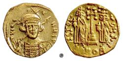 BYZANTINE, Constantine IV Pogonatus. AV solidus. Constantinople mint, circa 674-681