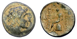 Ancient Coins - SELEUKID KINGS of SYRIA, Antiochos II Theos. AE denomination C. Antioch on the Orontes mint. Apollo