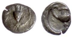 Ancient Coins - CILICIA, Nagidos. AR Obol, circa 400-380 BC. Amphora / Kantharos. Rare