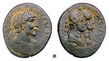 Ancient Coins - HADRIAN, Phoenicia, Tripolis.  AE 25, 117 AD.  The dioscuri