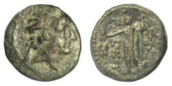 Ancient Coins - SELEUKID KINGS, Antiochos VIII Epiphanes. AE denom C, Damascus? 121-96 BC. SCARCE
