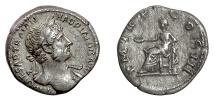 Ancient Coins - Hadrian. AR denarius, Rome mint. Struck 119-125 AD. Concordia