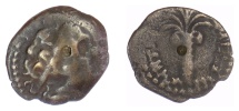 Ancient Coins - SELEUKID KINGS, Antiochos III 'the Great'. AE denom D, struck 198-187 BC. Date Palm tree