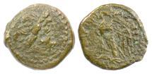 Ancient Coins - EGYPT, Ptolemy VI Philometer. AE 18, 181-145 BC. Commemorating Kleopatra I