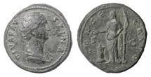 Ancient Coins - Diva Faustina Senior. AE sestertius, Rome mint. Struck circa AD 146-161