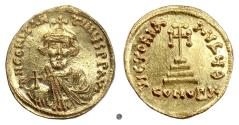 Ancient Coins - BYZANTINE, Constans II (or Heraclonas?). AV Solidus. Constantinople mint, struck 641-647