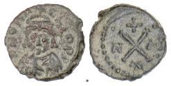 Ancient Coins - Byzantine, PHOCAS. AE 10 nummi, Carthage mint, 602-610