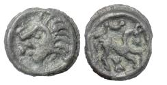 Ancient Coins - CELTIC  GAUL, Suessiones. Potin Unit, circa 50-30 BC